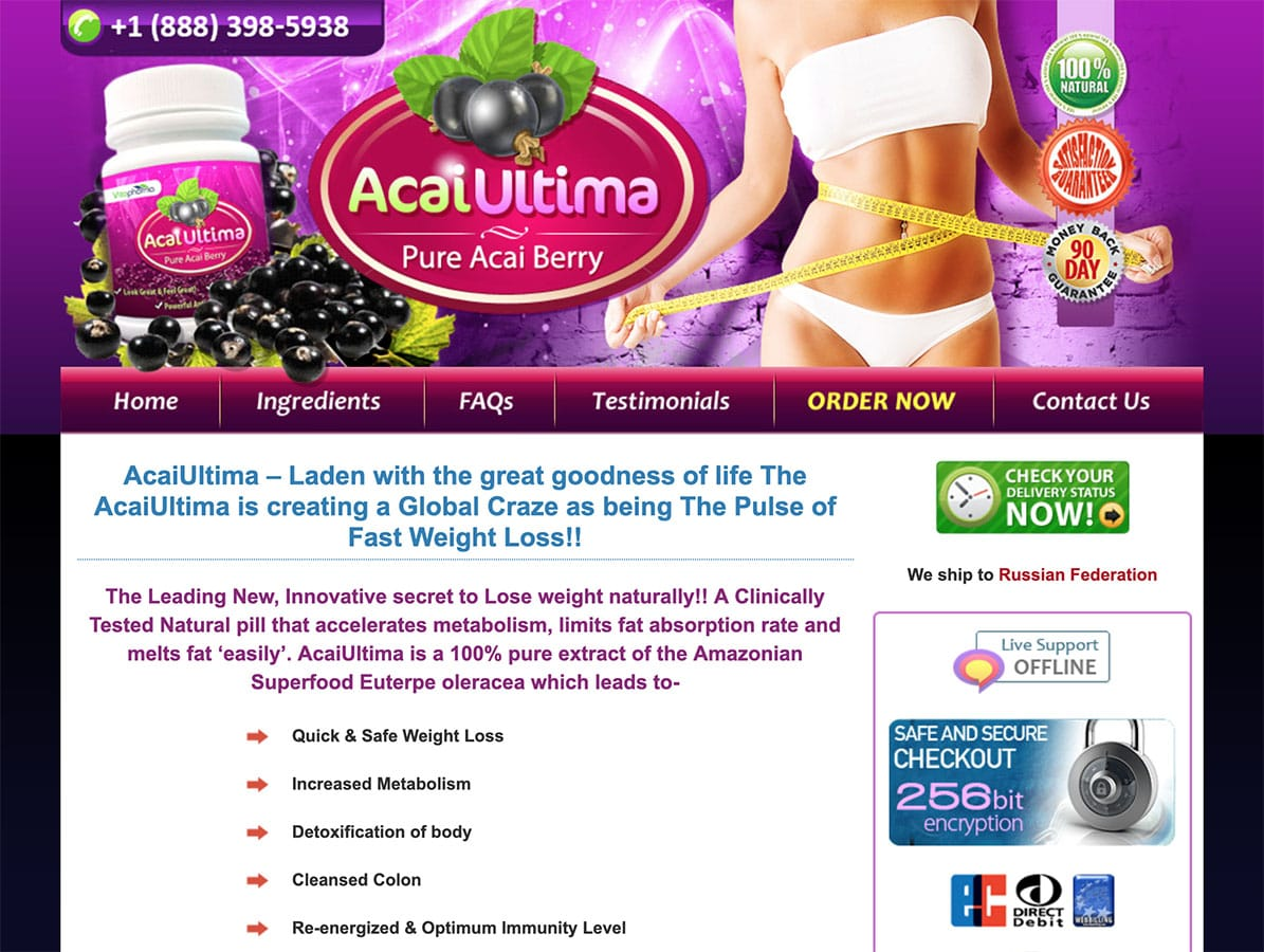 acai ultima website uk ireland