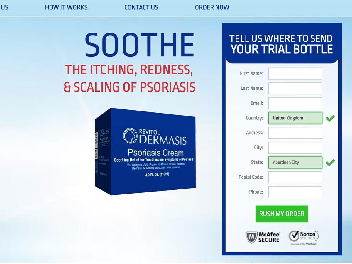 Dermasis Psoriasis Cream in UK, Ireland, Europe