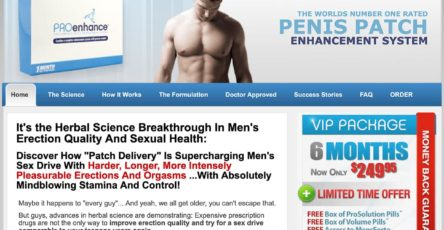 Male Enhancement Patch UK Website